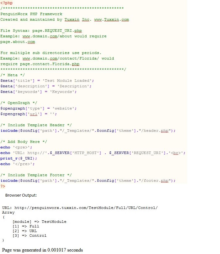 Module Example Code & Output
